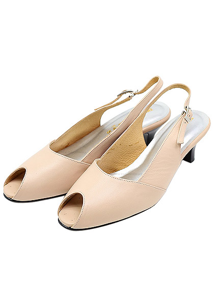 beige highheeled